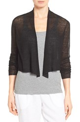 Eileen Fisher Women's Sheer Hemp Blend Crop Cardigan