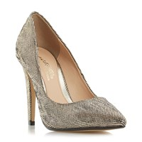 Head Over Heels Addyson Square Heel Pointed Courts Gold