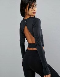 Under Armour Crop Top With Open Back Black