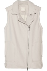 Rebecca Taylor Textured Faux Leather Vest
