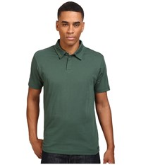 Rvca Sure Thing Ii Polo Sequoia Green Men's Short Sleeve Knit Black