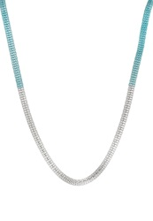 Anna Field Necklace Silver Turquoise