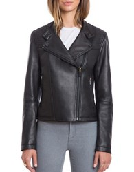 Bagatelle The Moto Naked Lamb Quilted Moto Jacket Black