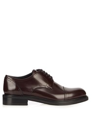 Loewe Leather Derby Shoes Brown