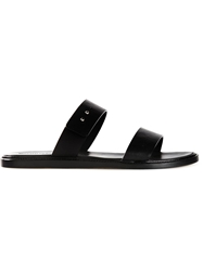 Common Projects Double Band Slide Sandals Black