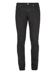 Alexander Mcqueen Coated Straight Leg Jeans
