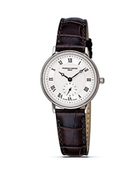 Frederique Constant Slim Line Quartz Watch 28Mm Ivory Brown