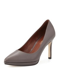 Cole Haan Idala Pointed Toe Leather Pump Stormcloud