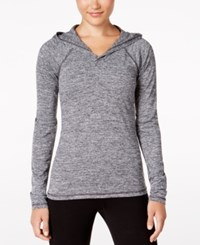 Ideology Essential Heathered Hooded Top Only At Macy's Noir