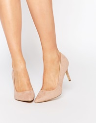 New Look Nude Pointed Heeled Court Shoe Cream