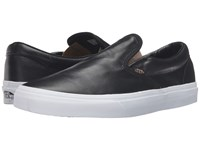 Vans Classic Slip On Metallic Gore Black Gold Skate Shoes