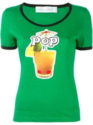 Victoria Beckham 'Absinthe Cocktail' T Shirt Green