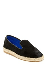 Jeffrey Campbell Abides Genuine Calf Hair Espadrille Flat Black