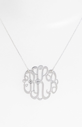 Argentovivo Personalized Large 3 Initial Letter Monogram Necklace Nordstrom Exclusive Silver