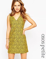 Asos Petite Exclusive Shift Dress In Lace Multi