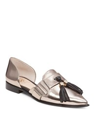 Vince Camuto Hollina Dorsay Leather Flats Bronze