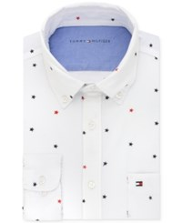Tommy Hilfiger Men's Slim Fit Comfort Wash White Solid Dress Shirt