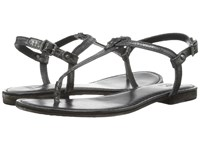 Frye Carson T Charcoal Glazed Vintage Leather Women's Sandals Black