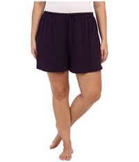 Jockey Cotton Essentials Plus Size Boxer Eggplant Women's Pajama Purple