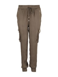 Morgan Slim Leg Tapered Cargo Trouser Khaki