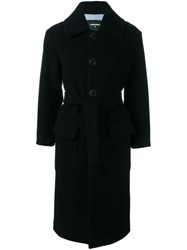 Dsquared2 Long Belted Coat Black