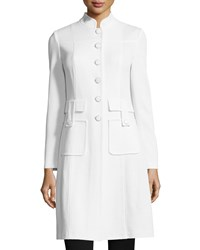 St. John Santana Military Pocket Jacket Bright White