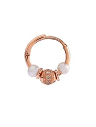 Elise Dray Diamond Pearl And Pink Gold Mini Rock Earring