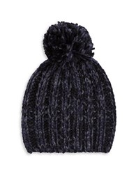 Rebecca Minkoff Pom Pom Accented Slouch Hat Black