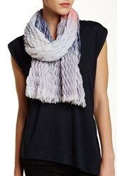 David And Young Ombre Crinkle Oblong Scarf Multi