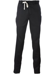 A New Cross Slim Spiral Suit Trousers Black