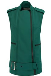 Self Portrait Cady Biker Vest Emerald