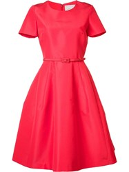Carolina Herrera Belted Flared Dress