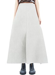 Marni Long Bonded Wool Skirt Grey