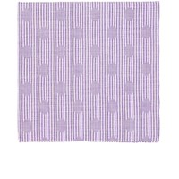 Simonnot Godard Men's Polka Dot And Striped Pocket Square Purple