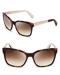 Bobbi Brown Morgan Wayfarer Sunglasses Tortoise Brown Gradient