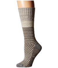 Smartwool Popcorn Cable Ash Heather Women's Crew Cut Socks Shoes Beige