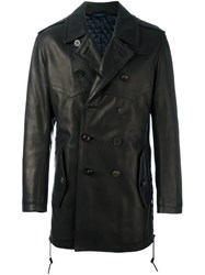 Lanvin Flight Jacket Style Peacoat Black