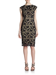 Abs By Allen Schwartz Lace V Back Sheath Dress Black
