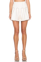 Bcbgmaxazria Bronwyn Embroidered Mini Skirt White