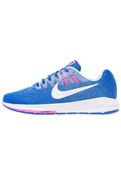 Nike Performance Air Zoom Structure 20 Stabilty Running Shoes Hyper Cobalt White Bluecap Pink Blast Ice Blue Black