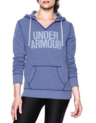 Under Armour Attached Hooded Long Sleeve Pullover Blue