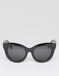 Cheap Monday Oversized Cat Eye Sunglasses In Black Black