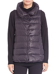 Eileen Fisher Nylon Puffer Vest Black