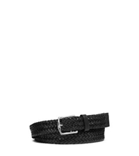 Michael Kors Braided Leather Belt Black