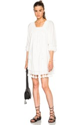 Apiece Apart Tewa Square Neck Dress In White