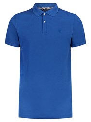 Aquascutum London Aquascutum Hill Picquet Polo Shirt Blue