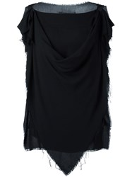 Vivienne Westwood Anglomania Sleeveless Draped Blouse Black