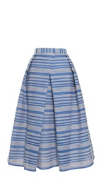 Tibi Raffia Organza Stripe Full Skirt