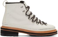 Rag And Bone White Leather Compass Lace Up Boots