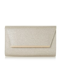 Linea Barklin Metal Detail Clutch Bag Gold
